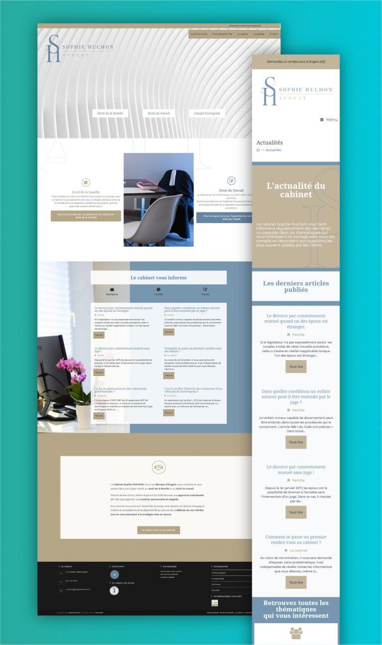 Wawaweb - Pascale Maire - Webdesigner indépendant - site vitrine et blog pour une avocate independant