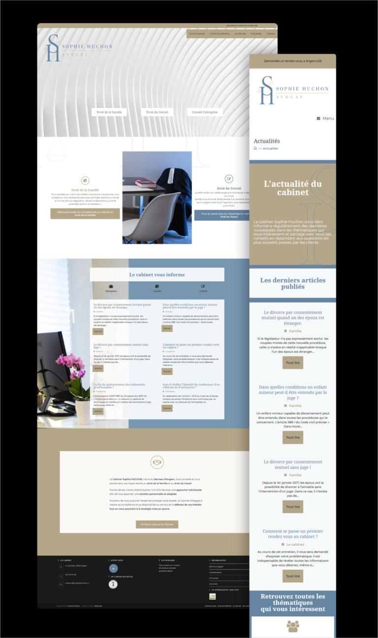 Wawaweb - Pascale Maire - Webdesigner indépendant - boutique en ligne pour le Cabinet d'avocats Sophie Huchon à Angers