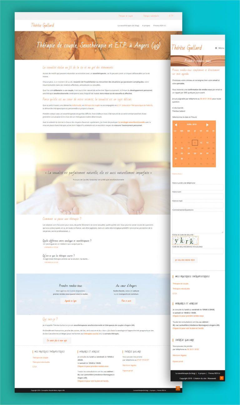 Wawaweb - Pascale Maire - Webdesigner indépendant - site internet avec prise de rendez-vous en ligne pour thérapeute