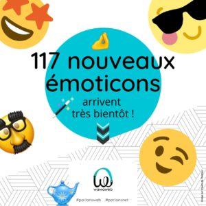 117 nouveaux émoticons arrivent cet été !
