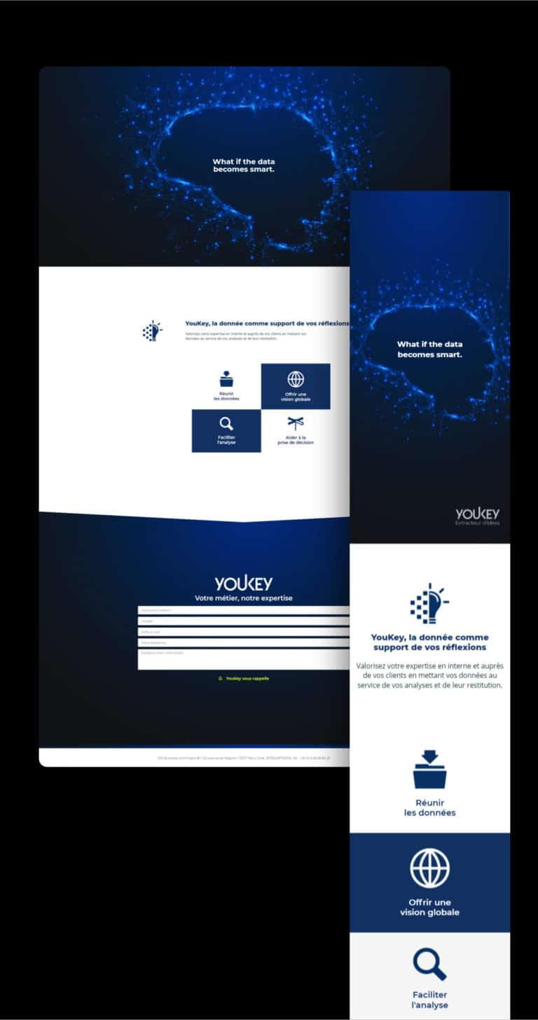 Présentation du site web ultra léger créé par Wawaweb de YOUKEY pour Marc LEMPEREUR, à Paris