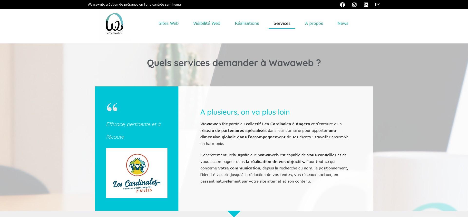 Vignette réseaux sociaux Services proposés par Wawaweb