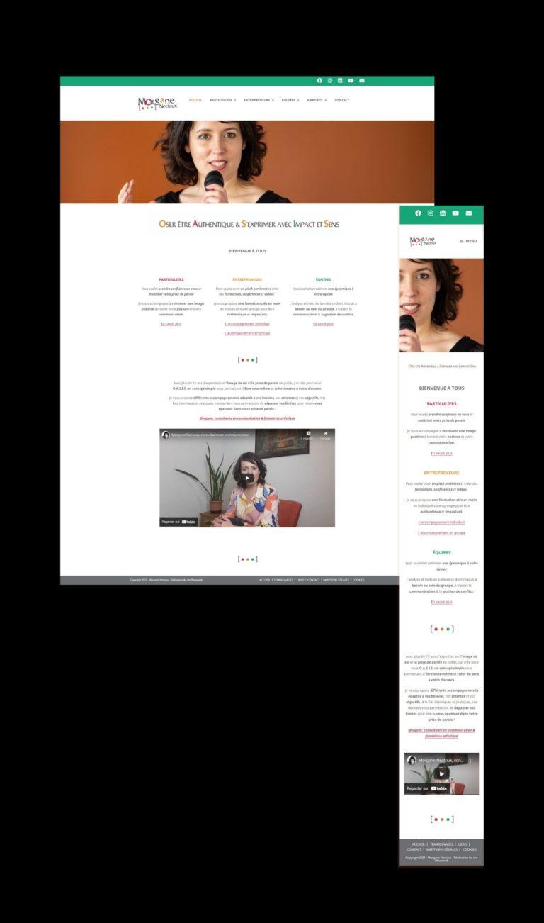 Site vitrine pour Morgane Nectoux, consultante en communication