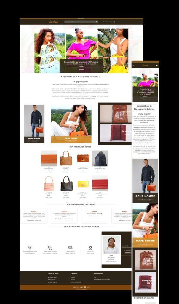 Read more about the article Refonte de la boutique en ligne pour SARHEN Maroquinerie