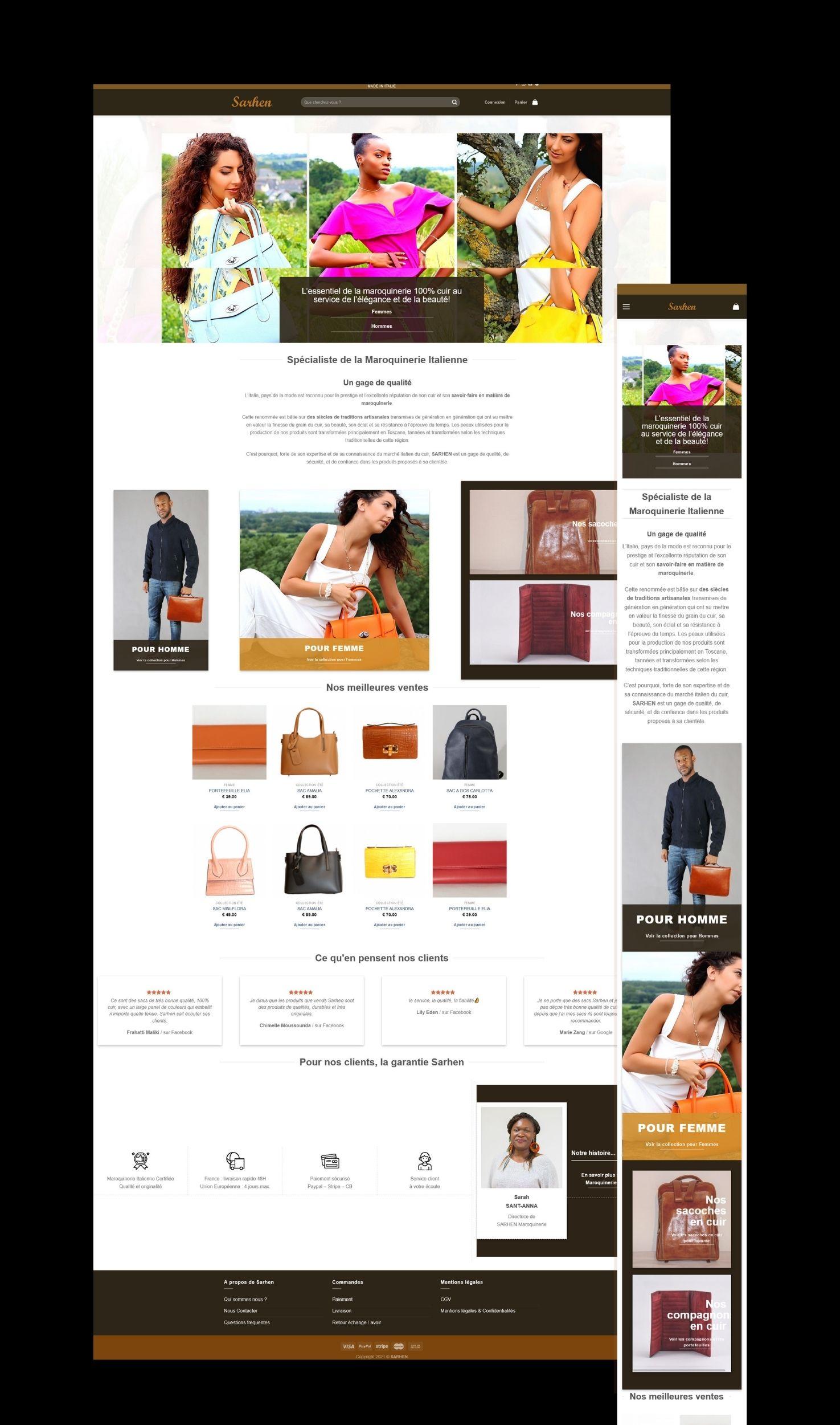 You are currently viewing Refonte de la boutique en ligne pour SARHEN Maroquinerie