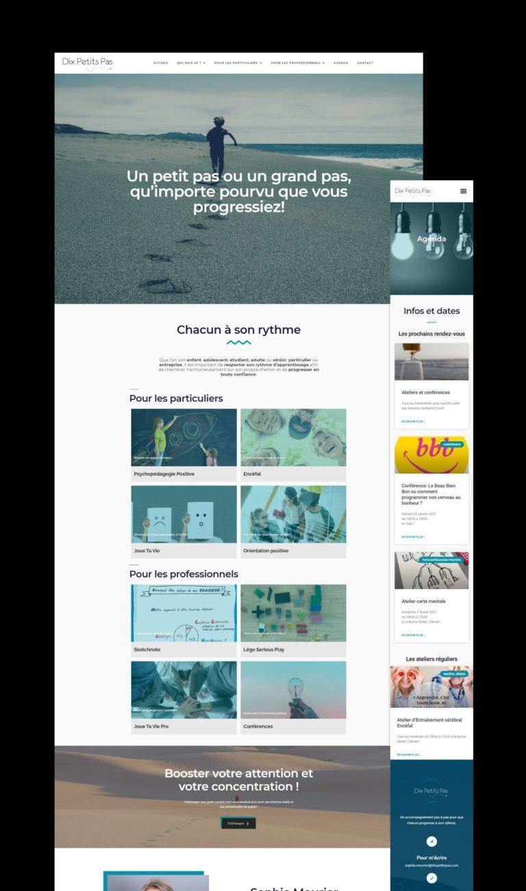 Read more about the article Reprise en main du site vitrine de Dix Petits Pas