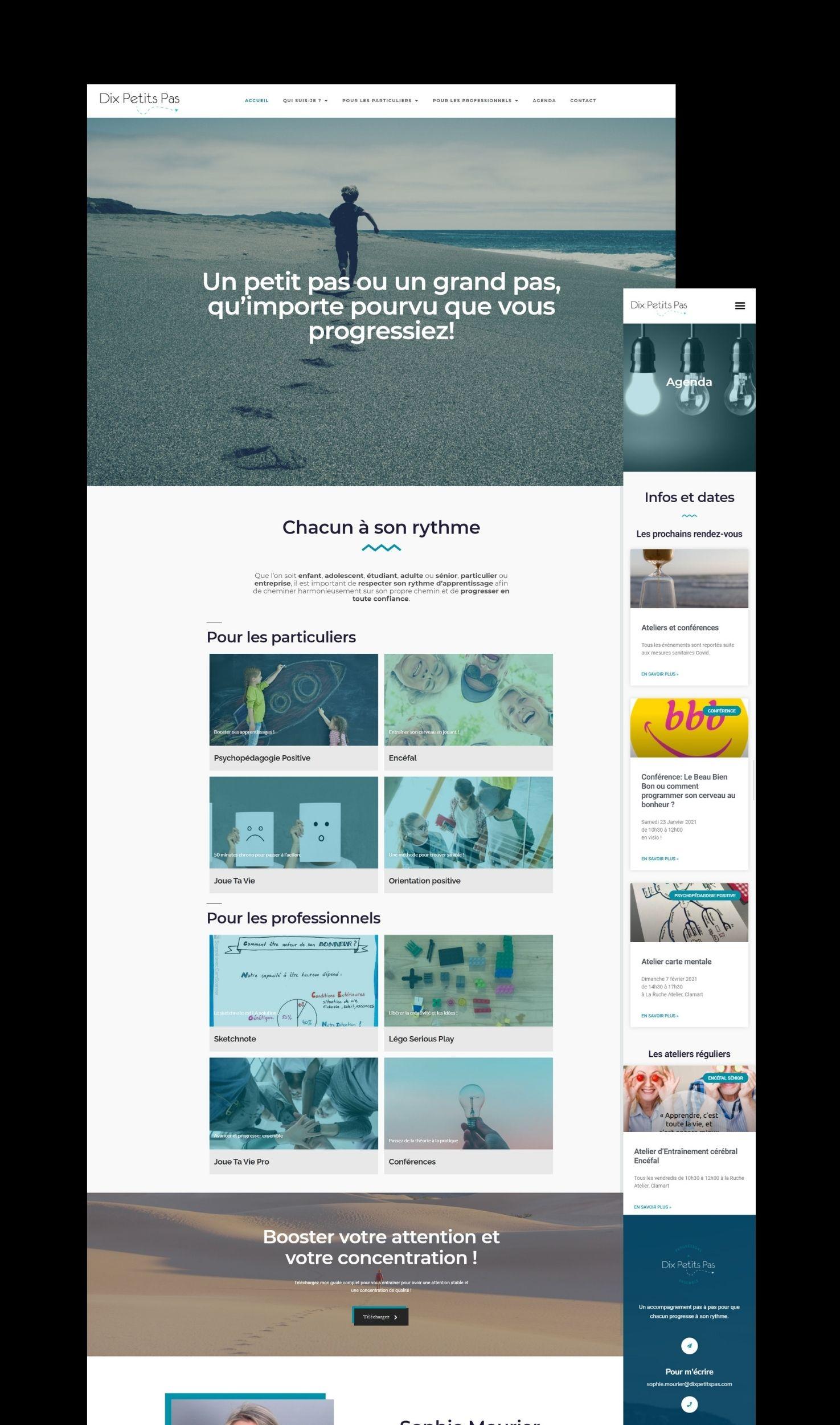You are currently viewing Reprise en main du site vitrine de Dix Petits Pas